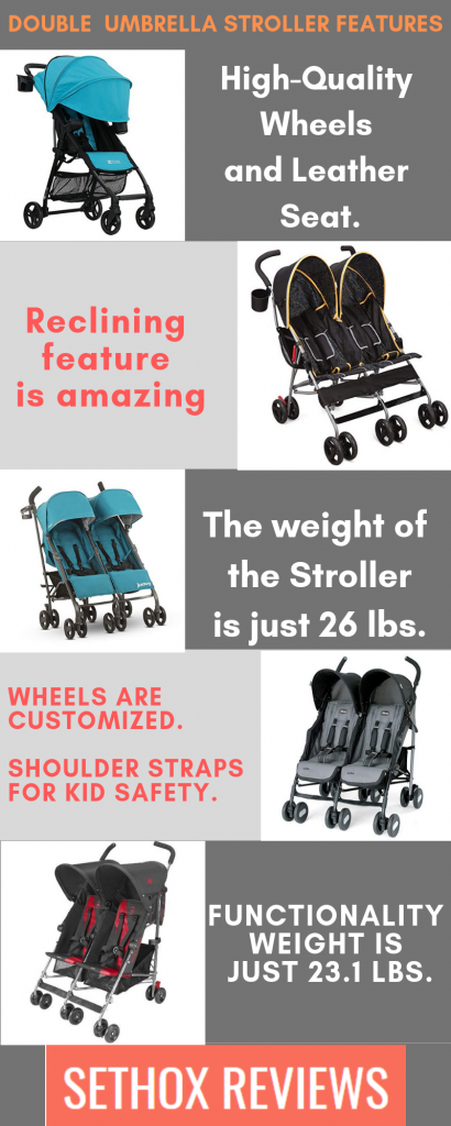best double umbrella stroller infographics