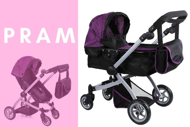 Difference between stroller and pram